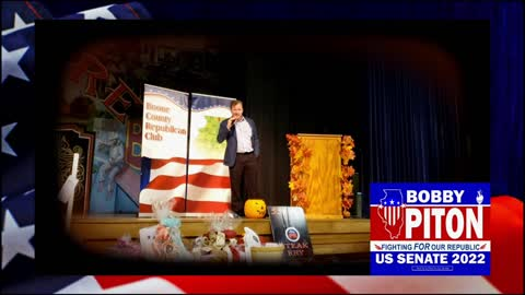 Bobby Piton for U.S. Senate Speaks in Boone County, IL October 20, 2021