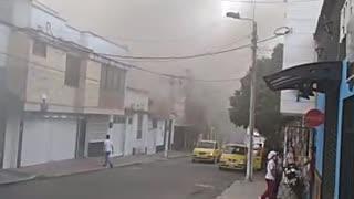 Incendio se registra en el barrio las Mejoras Públicas de Bucaramanga