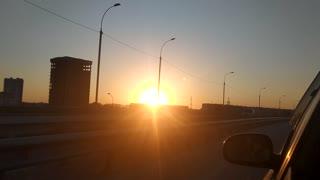Beautiful sunset in Novosibirsk