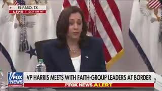 Kamala Harris Blames Trump For Border Crisis