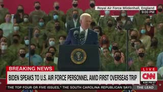 Biden Tells Air Force Personnel Global Warming Is Greatest Threat Facing America