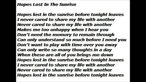 Hopes Lost In The Sunrise