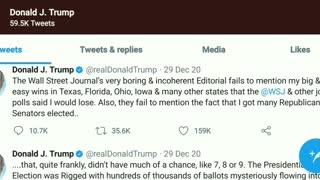 BANNED! Trump's LAST TWEETS Timeline 2 of 2