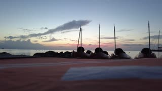 Drone Captures Amazing Sunset on Grand Cayman Island