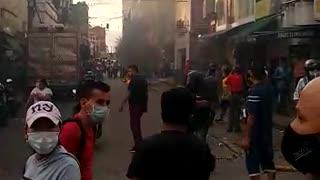 queman moto de ladrón en Bucaramanga
