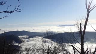 Time lapse from above the clouds 11/26/2020