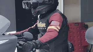Rider Resorts to Virtual Reality