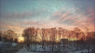 Beautiful Maine Winter Sunrise Timelapse - Two hours in Forty seconds