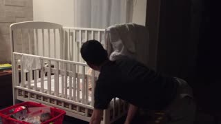 Hyper Baby Enjoys Peekaboo