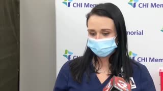 Nurse Passes Out After Receiving COVID Vaccine