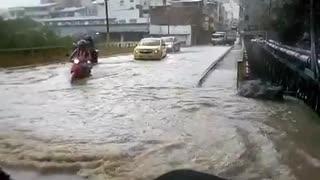 Fuertes lluvias prenden las alarmas en el sur de Santander