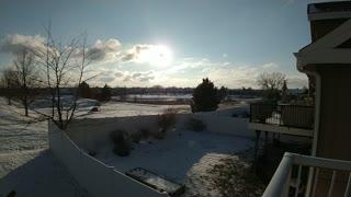Beautiful PNW Snowy Sunset