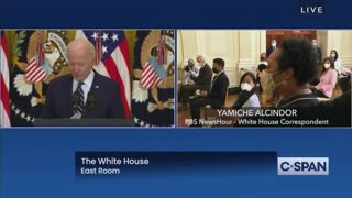 Reporter Asks ABSURD Question During Biden's First Press Conference
