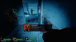 Left 4 Dead 2 - Unique Death Charge On Blood Harvest (The Train Station)