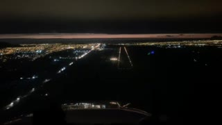 Night landing in la serena