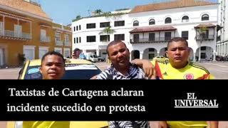 Video: Taxistas aclaran incidente sucedido en la protesta