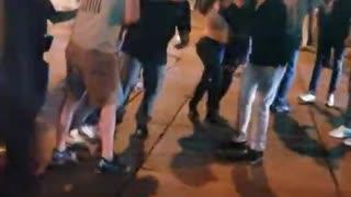 Fleeing Vehicle Hits Pedestrians