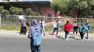Cape Lives Matter protesters outside Mitchells Plain court