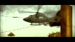 Helicopter fight scene