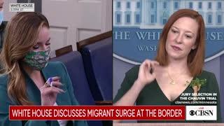 Reporter Grills Psaki About Border Crisis—She Blames Trump