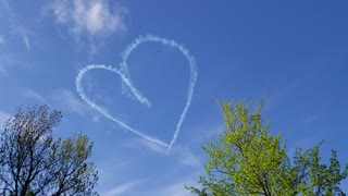 Skywriter Spreads Love Above New Hampshire