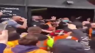 TRADIES ATTACK CMFEU UNION OFFICES MELBOURNE