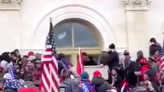 Patriots call for Antifa to stop smashing the windows at the Capitol building!