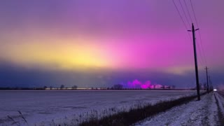 Light pollution over Leamington, Canada actually looks beautiful