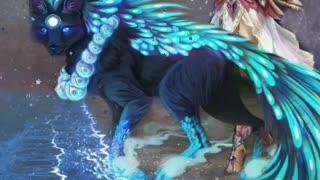 MYTHOLOLOGICAL BLUE BEAST