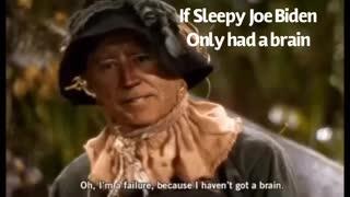 If only Sleepy Joe Biden has a brain