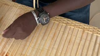DIY rattan weaving on board