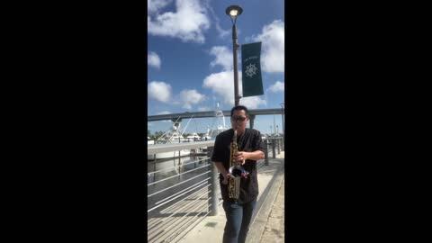 Wharf Orange Beach AL Sax Performance Collage