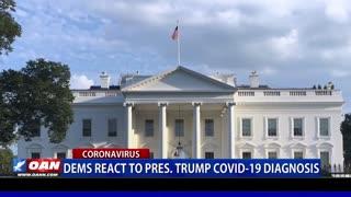 Democrats react to President Trump's COVID diagnosis