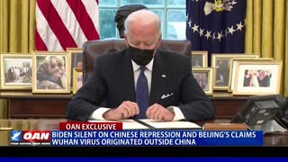 Biden silent on Chinese repression, Beijing's claims Wuhan virus originated outside China