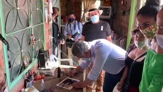 la llegada del presidente Iván Duque, este viernes, fue aplaudida por los pobladores.
