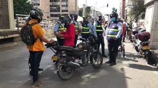 Cerca de 30 vehículos fueron inmovilizados este lunes