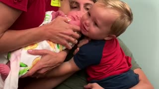 Big Brother Cries When His New Sister is Taken Away