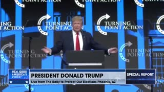 President Trump at TPUSA Rally To Protect Our Elections MAGA
