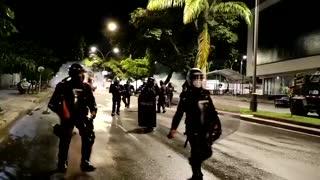 enfrentamientos entre manifestantes y Policía en los alrededores de la UIS