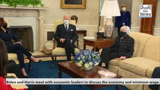 Biden and Harris meet with economic leaders