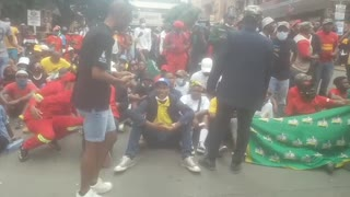 Wits students protest in Braamfontein