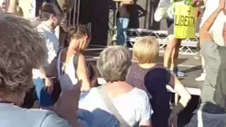 Rome, Italy: Green Pass, Lockdown Protest