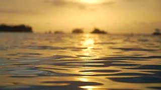 Sunset Reflecting Off Sea at Dusk