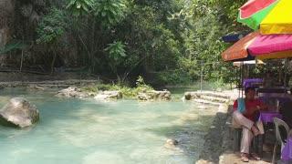 Kawasan falls in cebu city Philippines