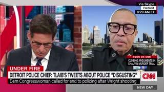 "Detroit Police Chief Blasts Rashida Tlaib Over ""Abolish Policing"" Comment"