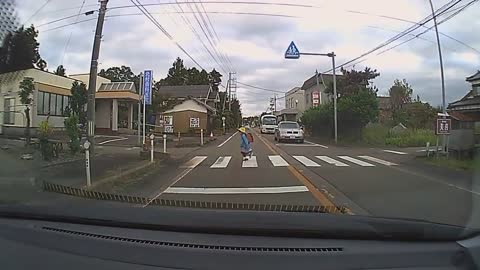 Salute, Look at that, how to Japanese people respect to crossing road