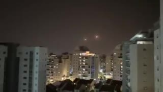 Sirens sounding in southern Israel. Iron Dome intercepts missiles.