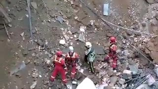 Urgent huge building collapse in Iran