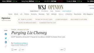 Top Republicans endorse Cheney replacement