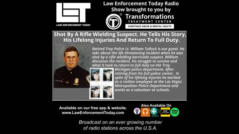 Shot By A Rifle Wielding Suspect. He Tells His Story His Lifelong Injuries And Return To Full Duty.